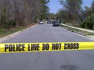 Police were on the scene after a body was found in the Lawrence Street area of Fuquay-Varina on March 29, 2011.