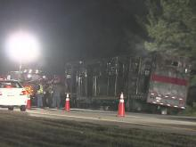 A cigarette tossed by a passing driver likely sparked a fire in a horse trailer on Interstate 95 that killed six thoroughbreds Friday, April 15, 2011.
