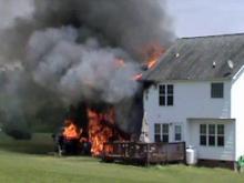 Dog warns boy of house fire