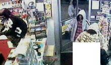Raleigh police released a photograph from surveillance footage of three men and a woman robbing an Exxon gas station, 1200 New Bern Ave., at 12:01 a.m. April 14, 2011.