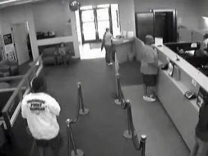 Fayetteville police released this surveillance photo of the man who robbed the Wachovia bank at 4924 Morganton Road on Tuesday, June 14, 2011.