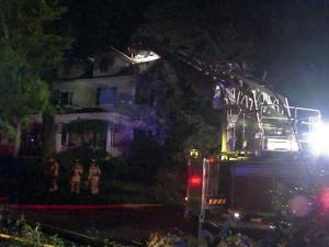 Witnesses said they heard a loud boom before this fire started at Cameron Park Inn at 211 Groveland Ave. around 2 a.m. on June 20, 2011.
