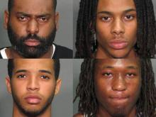 Four men, ranging in age from 17 to 29, face accusations that they gunned down a 16-year-old boy in Poole Road Thursday night, Raleigh police said.