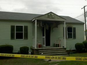 A duplex in Camp Lejeune's Midway Park caught fire Friday. and one child died.