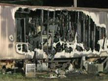 Man injured in fire in Johnston County