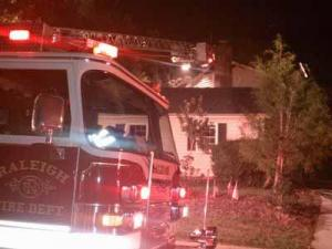 Crews were on the scene of a house fire at 1301 Wagram Court in Raleigh on Aug. 2, 2011.