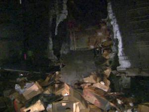 The brakes of a tractor-trailer hauling frozen chickens sparked a fire along I-40 East, near N.C. Highway 751, shortly before midnight Tuesday, troopers said.