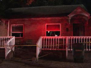 Durham firefighters rescued a 12-year-old boy from this burning house at 219 N. Maple St. early Friday, Sept. 9, 2011.