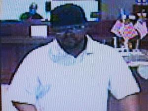 Raleigh police released this surveillance image from a bank robbery Thursday, Sept. 22, 2011.