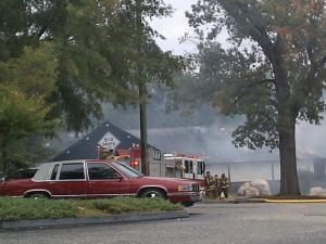 Big Shots Entertainment Sports Bar & Grill on Yadkin Road caught fire early Tuesday.