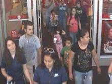 The man in the gray shirt is wanted for questioning in a fire at a Target store in Wilson on Oct. 15, 2011.