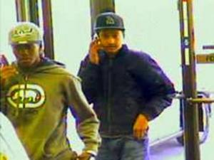 Hope Mills police released surveillance images Tuesday of two men they believe robbed an RBC Centura Bank shortly before 4 p.m.