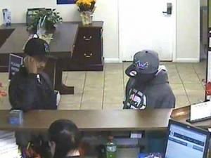 Police are seeking these two men, who they say robbed the First Citizens Bank in Fayetteville on Nov. 4, 2011.