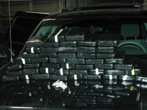 Drug investigators with the Wilson Police Department seized found 47 kilograms of cocaine during a search of a Jeep Grand Cherokee in February 2012.
