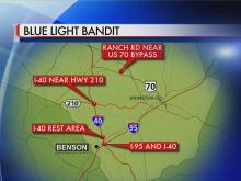 Blue light bandit locations