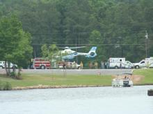 Helicopter takes toddler to hospital at Lake Royale