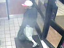 Security image of fast-food robber