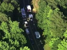 Four people were seriously injured in a single-vehicle wreck on Lyastra Road, between Jack Bennett and Sam Jones roads in Chatham County, on Friday, June 15, 2012.