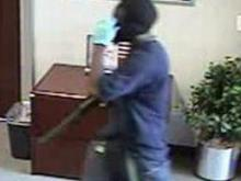 Bank robber captured on video