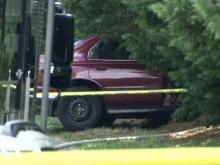 Body found in crashed car in Durham