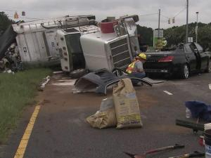A tractor trailer collided with a car on U.S. 1 in Youngsville Saturday morning, killing one person, authorities said.
