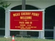 Marine Corps Air Station Cherry Point sign