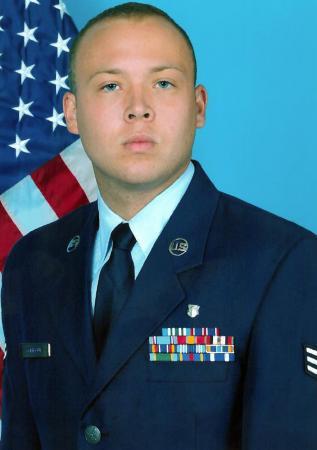 Senior Airman Jordan Godbout, 22, died in traffic accident in Raeford on Sept. 28, 2012.