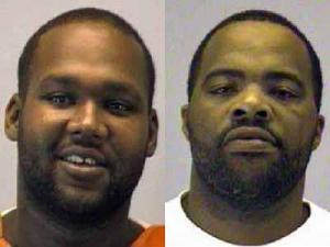 Quinton Swinson II (left) and Angelo Burden are wanted by Goldsboro police in connection with separate murders that happened in September.