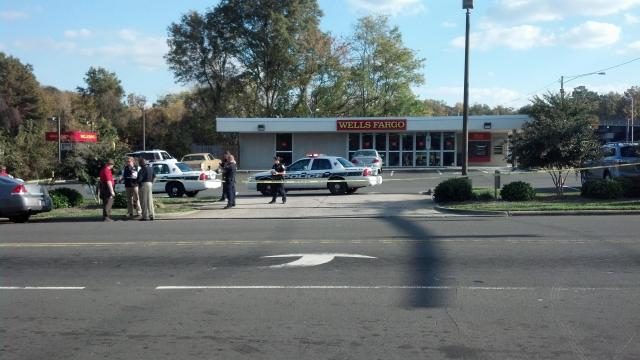 Police responded Wednesday afternoon to a robbery at a Wells Fargo in Durham.