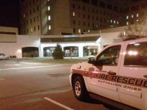 Emergency crews responded to a call about an explosion on the sixth floor of Durham Regional Hospital early Tuesday.