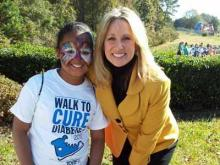 WRAL anchor Debra Morgan attended the Triangle Walk to Cure Diabetes Saturday, Nov. 10, 2012.
