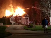 Fire rips through north Raleigh home