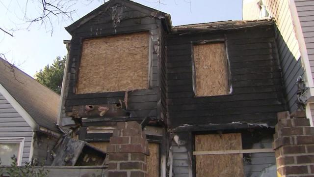 This town house in Raleigh was heavily damaged in Thanskgiving Day fire.