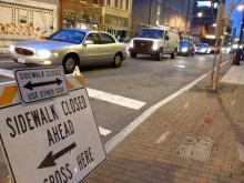 An unsafe building at the corner of South Wilmington and East Martin streets is expected to cause traffic delays in downtown Raleigh throughout the weekend, city officials said Friday.