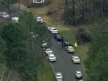 A Durham police officer suffered non-life threatening injuries Tuesday morning after being shot near the Forest Point Apartments on Forest Road. See images from Sky 5 over the scene.