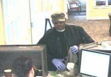 Garner police released photographs of a man who robbed a bank Saturday afternoon.