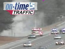 Brushfires dot I-40 in Raleigh, arson suspected
