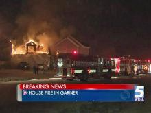 Fire ripped through a home on Trekwood Drive in Garner early Tuesday, a Wake County fire official confirmed.