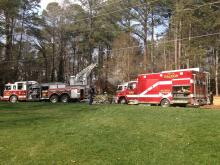 Firefighters rushed to extinguish a blaze in the garage of a Raleigh home Sunday afternoon.