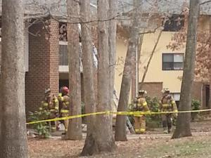 Two units were damaged by flames and smoke at 1208 Schaub Drive. (Photo courtesy J. Mahone)