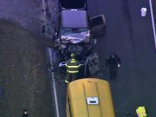 Sanford school bus involved in wreck