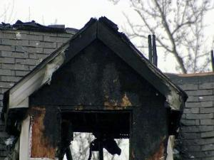 Fire ripped through a Clayton home early Sunday, authorities said. The house is a total loss.