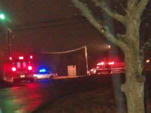 Emergency vehicles were on the scene of a train-pedestrian accident in Burlington Friday.