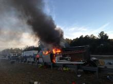 All eastbound lanes of Interstate 540 were closed Wednesday evening near U.S. Highway 401 due to a wreck, state transportation officials said. Photo by Jim Bounds