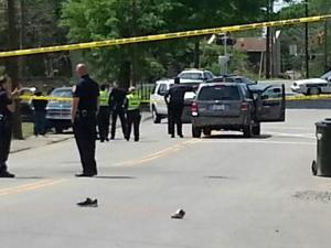 A child was struck by a car Saturday afternoon in the 700 block of Liberty Street, Durham police said.