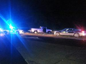 A man wanted on a larceny charge is in custody Tuesday night after leading multiple law enforcement agencies on a three-county chase on Interstate 40, according to the Johnston County Sheriff's Office.