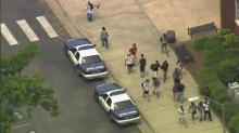 Raleigh police arrested eight people at Enloe High School in Raleigh Thursday following an end-of-year prank.