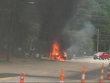 Transformer fire in Cary
