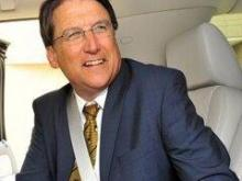"""Governor Pat McCrory buckles up in a promotional photo for the """"Click It or Ticket"""" campaign. Photo courtesy of North Carolina Department of Transportation."""