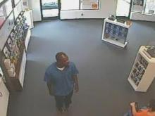 Fayetteville police are searching for a man who stole two iPhones from a store on Morgaton Road earlier this month.